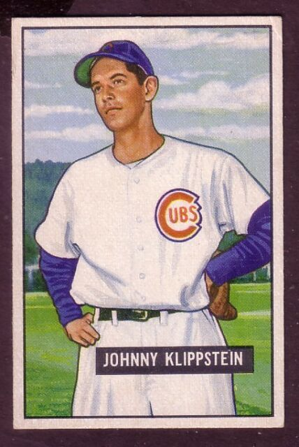 1951 BOWMAN JOHNNY KLIPPSTEIN CARD NO:248 EX CONDITION