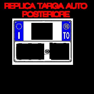REPLICA TARGA AUTO POSTERIORE AUTOCARRO ZA 000 AA 297X214 MM PRONTA AL USO