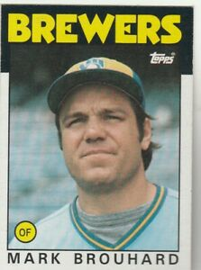 FREE-SHIPPING-MINT-1986-Topps-473-Mark-Brouhard-Brewers-PLUS-BONUS-CARDS