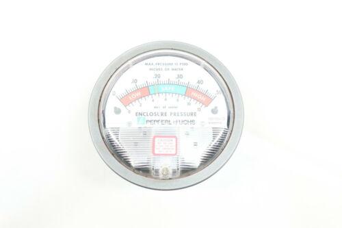 Pepperl Fuchs 196109-00 Pressure Gauge 4in 1//8in Npt 0-0.5in-h2o