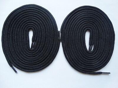Accurato 2 Paia Lacci Forte Round 140cm Nero-scarpe Da Skate In Tela Scarpe Da Ginnastica Nike-