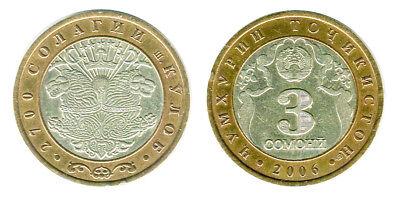 Tajikistan coin1 SOMONI 2006