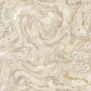 Mineraux-Azurite-Marbre-Papier-Peint-Rouleaux-Beige-Dore-Holden-90121