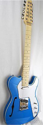 12 STRING TELE STYLE ELECTRIC GUITAR SEMI-HOLLOW - BLUE, WHITE, SUNBURST,NATURAL