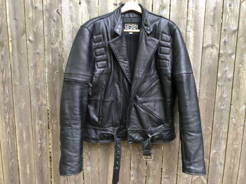 Vintage Men's Leather 80s Biker Jacket 46