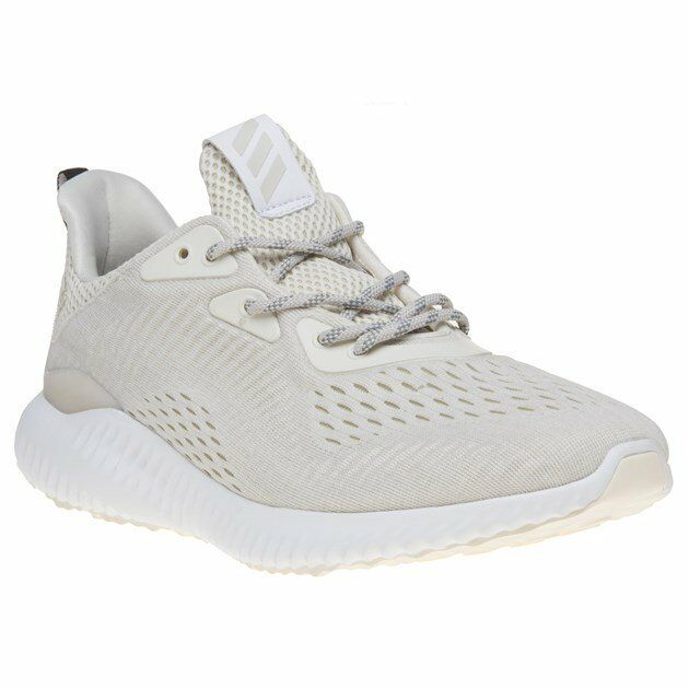Neu HERREN ADIDAS white NEUTRAL ALPHA BOUNCE NYLON SNEAKER JOGGINGSCHUHE