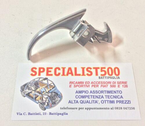 CHIUSURA BECCUCCIO F 1°SERIE MANIGLIA COFANO MOTORE ALLUMINIO FIAT 500 N D