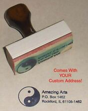 Yin Yang Rubber Stamp With Your Custom Address