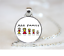 ÂNE FAMILLE Pendentif Collier//Chaîne de Verre Tibet bijoux argent