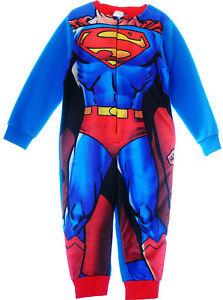 d9aecfd8fa Das Bild wird geladen Pyjama-Superman-NEU-Kinder-Schlafanzug-Overall- Strampler-Reissverschluss