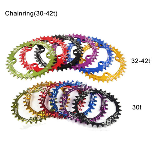 30T-42T BCD104mm Chainring Mountain Road Bicycle Narrow Wide Aluminum Chainwheel