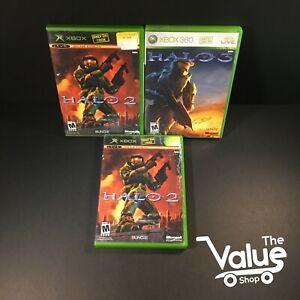 Microsoft-Xbox-Halo-Video-Game-Lot-3-Games-Halo-2-amp-3