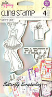 Doll Stamp Set Prima Marketing Inc Cling Foam Unmounted Rubber Stamp 910495