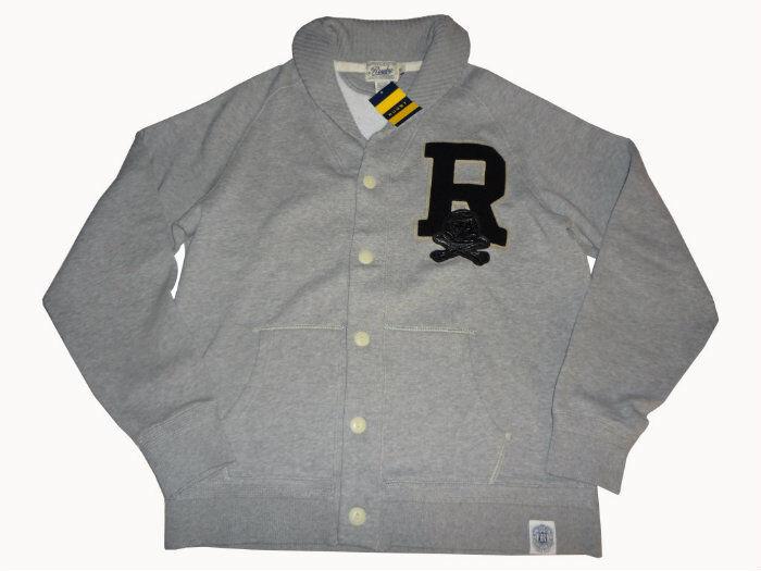 Ralph Lauren Rugby Shawl Collar Fleece Cardigan XL (Extra Large) Grau Sweater