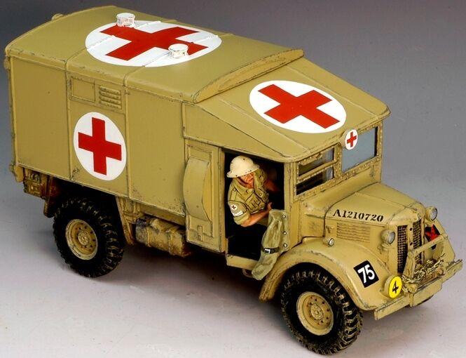 KING & COUNTRY WW2 BRITISH EIGHTH ARMY EA027 DESERT AUSTIN K2 AMBULANCE MIB