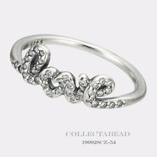 b42865d57 Authentic Pandora Silver Signature of Love CZ Ring Size 58 (8.5) 190928CZ