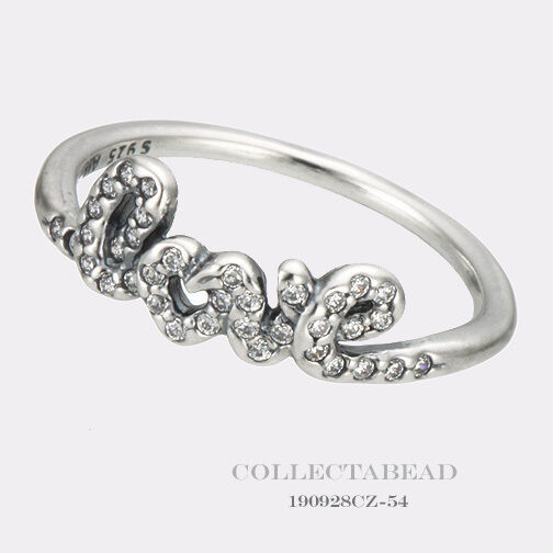 08dbeca99 Authentic PANDORA Ring Signature of Love Ring Size 52(6) 190928cz for sale  online | eBay