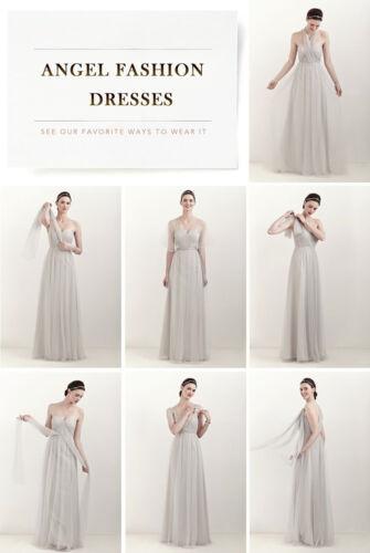 New Long Convertible Multi Way Prom Bridesmaid Dresses UK