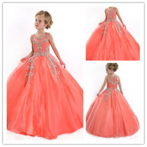 Flower Girl Dresses for Birthday Prom BallGown Pageant School Party Christining