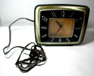 New Antique Black & Gold GE General Electric Deco Model 7H226 Alarm Clock w/ Tag