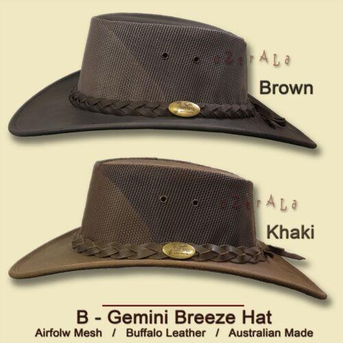 ~oZtrALa~ Aussie BUFFALO Leather Hat CROCODILE Band Mens Fishing Cowboy JACARU