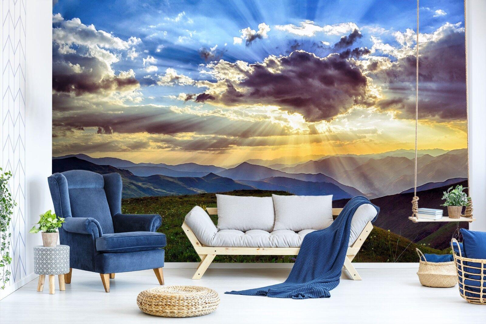 3D Rasen Berge 7144 Tapete Wandgemälde Tapete Tapeten Bild Familie DE Sidney | Verkaufspreis  | Glücklicher Startpunkt  | Verwendet in der Haltbarkeit