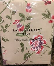 "Laura Ashley Summer Palace Curtains in Cranberry 88"" W x 72"" L (223 x 183cm) NEW"