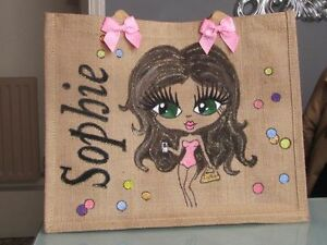 personnalisés work de shopping à school uni main jute birthday la Sacs peints Dancing YRPww