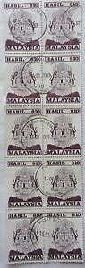 Malaysia Used Revenue Stamps - 10 pcs $10 Stamp (Old Design Big Size)