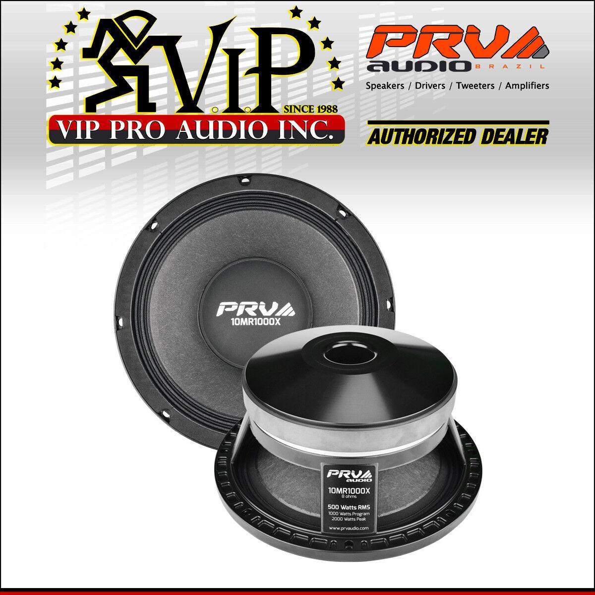 PRV Audio 10MR1000X 10  X-treme Midrange MidBass 1000W 8-Ohm Speaker Woofer 1PC.