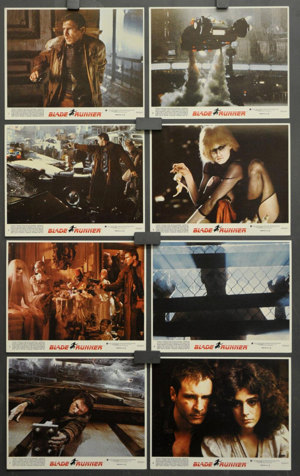 Blade Runner 1982 Original 8x10 Lobby Set Harrison Ford Rutger Hauer Sean Young