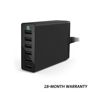 Anker-60W-12A-6-Port-Desktop-USB-Wall-Charger-PowerPort-6-Power-Cord-AU-Black