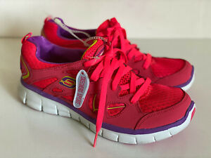 NEW-SKECHERS-SPORT-FLEX-SOLE-PINK-CORAL-RUNNING-TRAINING-SHOES-7-5-38-SALE