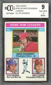 Luzinski-Kingman-Mike-Schmidt-Card-1976-Topps-193-Nl-Hr-Leaders-BGS-BCCG-9