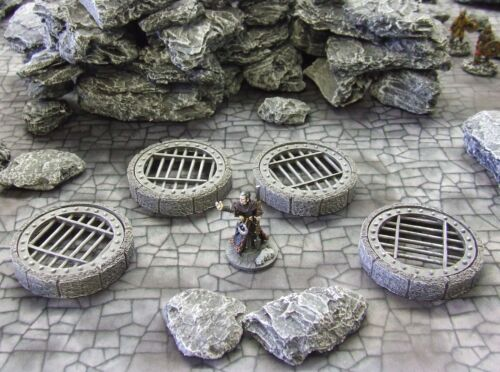PRE PAINTED FANTASY TERRAIN FROSTGRAVE suited - /'DUNGEON CAPPINGS/'