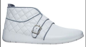 New Justin Deakin Women White Leather Quilted Trainer L96d8756 Sneakers Shoes 7 To Ensure A Like-New Appearance Indefinably Clothing, Shoes & Accessories