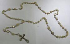 Chapelet plaqué or et argent avec grains de nacre – traces d'usage -