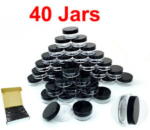 40-Packs-10-Gram-10ML-High-Quality-Makeup-Cream-Cosmetic-Sample-Jar-Containers