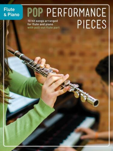 Pop Performance Pieces 10 Hit Songs for Flute and Piano Book NEW 014048344