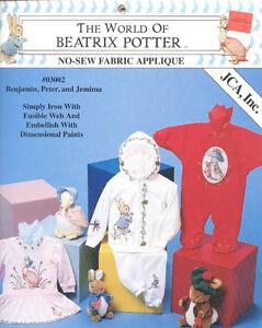 The-World-of-Beatrix-Potter-No-Sew-Fabric-Appliques-Benjamin-Peter-amp-Jemima