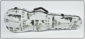 New 4/4 Size Violin Case Carbon Fiber Hard Case Eiffel Tower Pattern