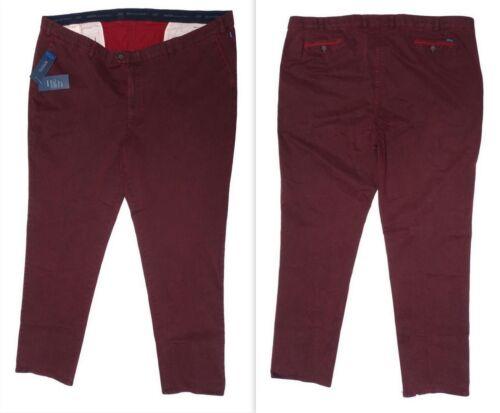 Nuovo Taglie Forti Confortevole Uomo Elasticizzato Pantaloni Chino Cintura
