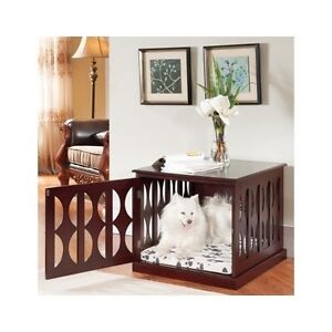 table kennel. image is loading wooden-dog-kennel-crate-end-table-side-furniture- table kennel o