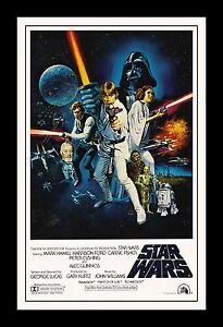 STAR WARS - A NEW HOPE framed movie poster 11x17 Quality ...