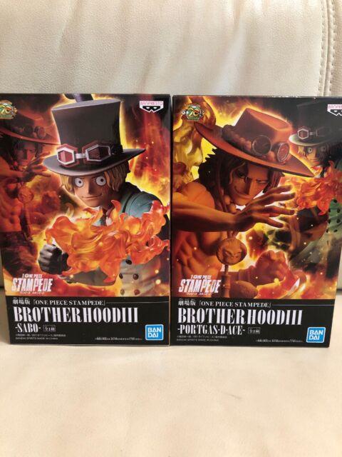 One Piece Stampede Brotherhood 3 Portgas D Ace Sabo Figure Set Of 2 Banpresto