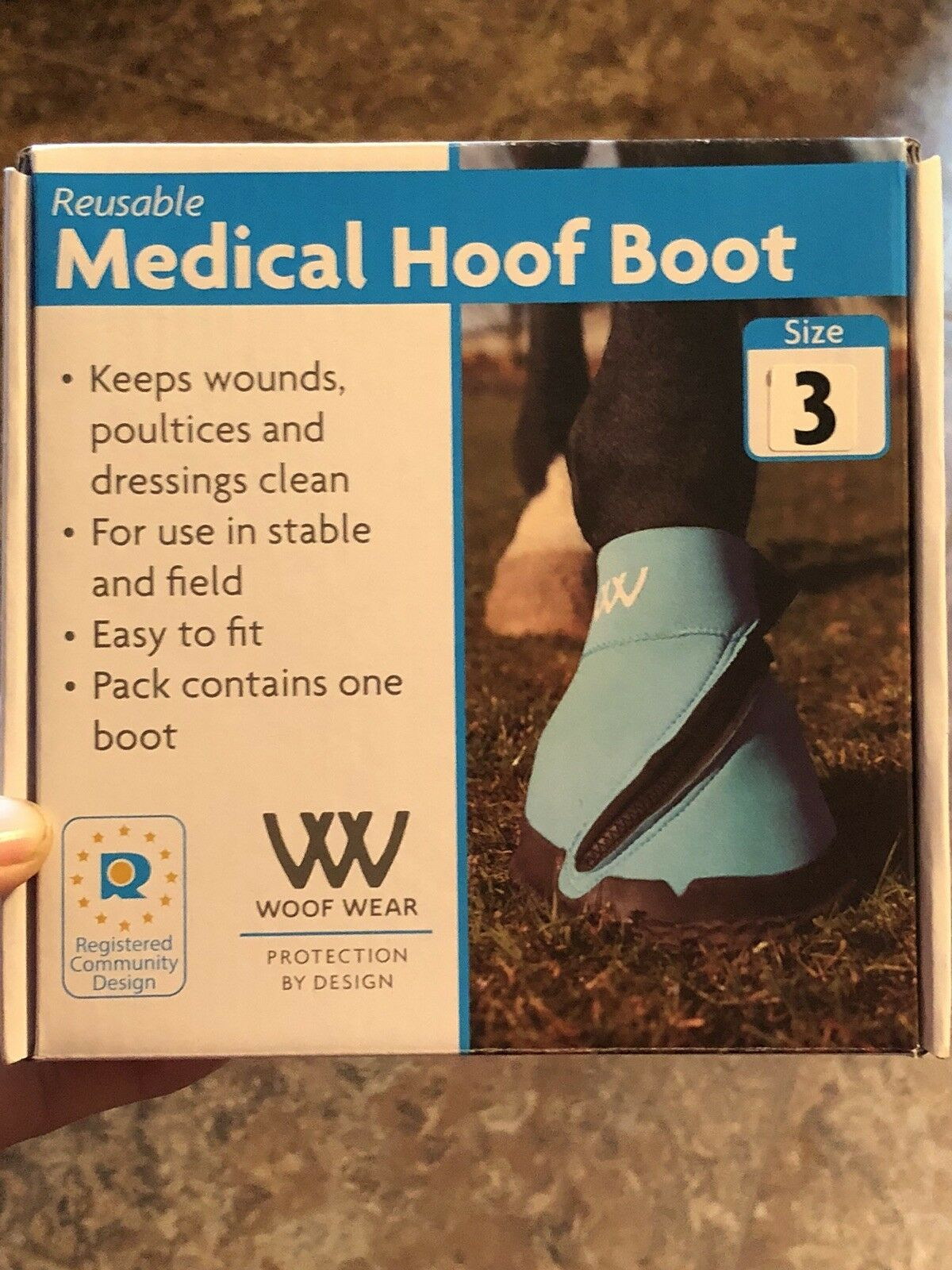 NWT WOOF WEAR HOOF BOOT TURQUOISE size  3  high discount