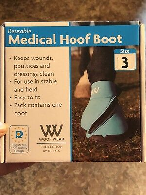 Woof Wear Medical Hoof Boots Boot Blue Close fitting medical hoof boot