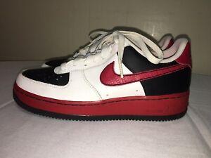 Rare Nike Air Force 1 Xxv 82 Shoes Black Red White 314192 162