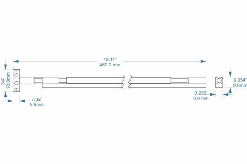 "overall length-Black 2-way dual action-18.1/"" Spoke Nut Wheel Truss Rod 460mm"