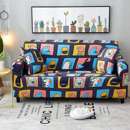 HOT 4 Seater Floral Sofa Covers Slipcover Elastic Stretch Settee Protector Couch